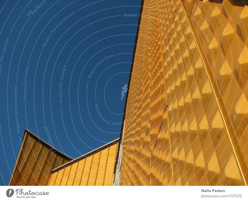 Yellow before Blue Sky Architecture Wall (barrier) Wall (building) philharmonic orchestra Modern Berlin Philharmonic Berlin zoo chamber music hall Sharoun