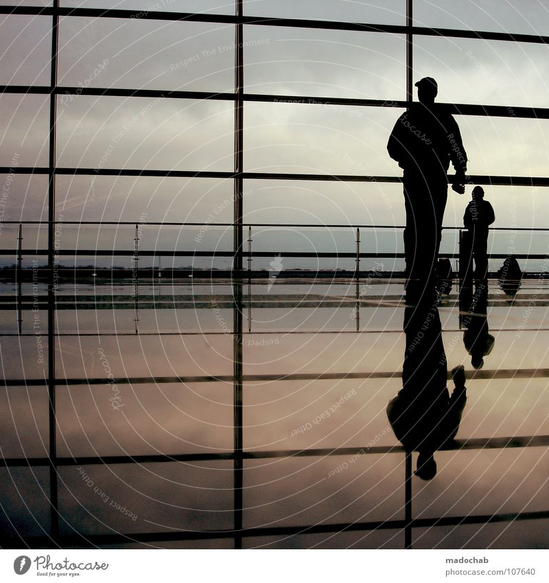Human being Sky Man Vacation & Travel Relaxation Wall (building) Emotions Movement Glass Going Walking Wait Flying Airport Empty Stand