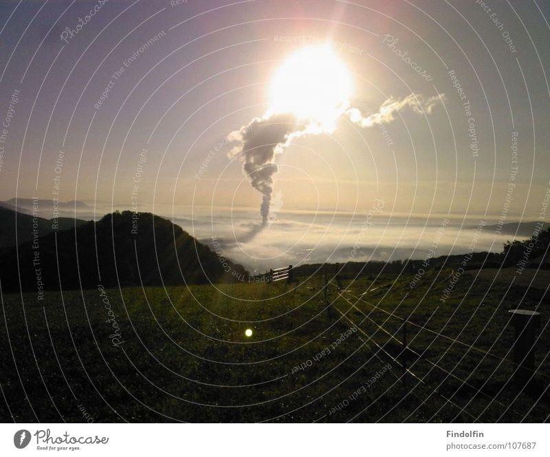 Sun Clouds Mountain Vantage point Tower Idyll Column Coincidence Spontaneous