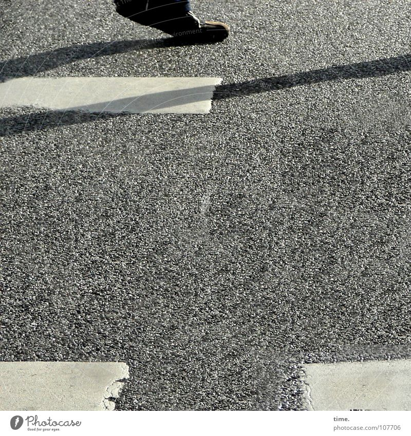 White Colour Street Movement Feet Asphalt Traffic infrastructure Pedestrian Zebra crossing Street sign Pedestrian crossing