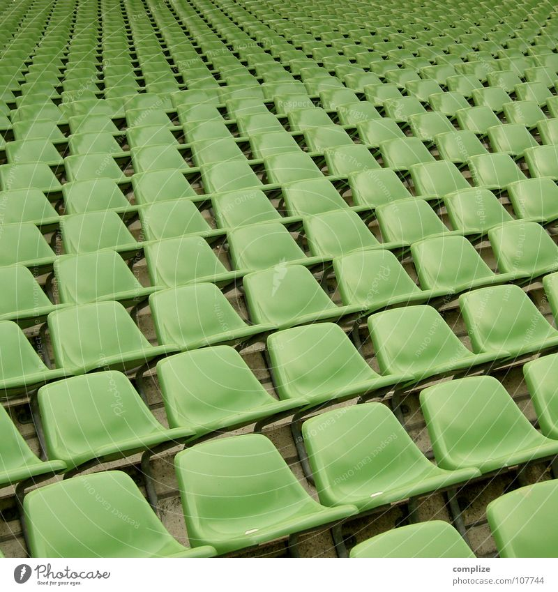 Green Loneliness Sports Playing Movement Lanes & trails Soccer Empty Perspective Multiple Bench Stand Sofa Observe Infinity Statue