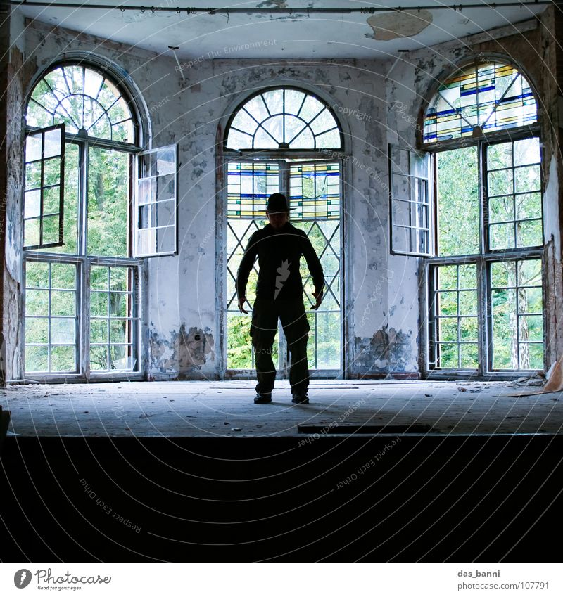 Man Old Calm Window Glass 3 Empty Grief Culture Shows Mysterious Concert Creepy Derelict Strong Stage