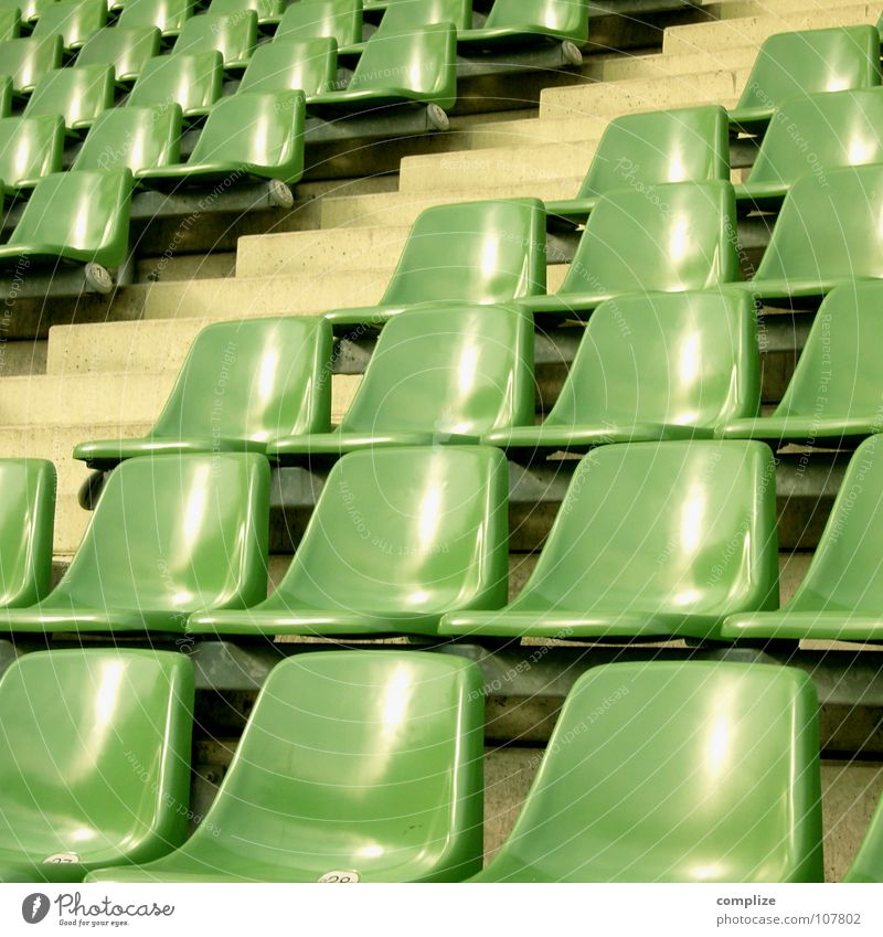 Green Loneliness Sports Movement Lanes & trails Soccer Tall Empty Perspective Stairs Multiple Bench Stand Sofa Observe Media