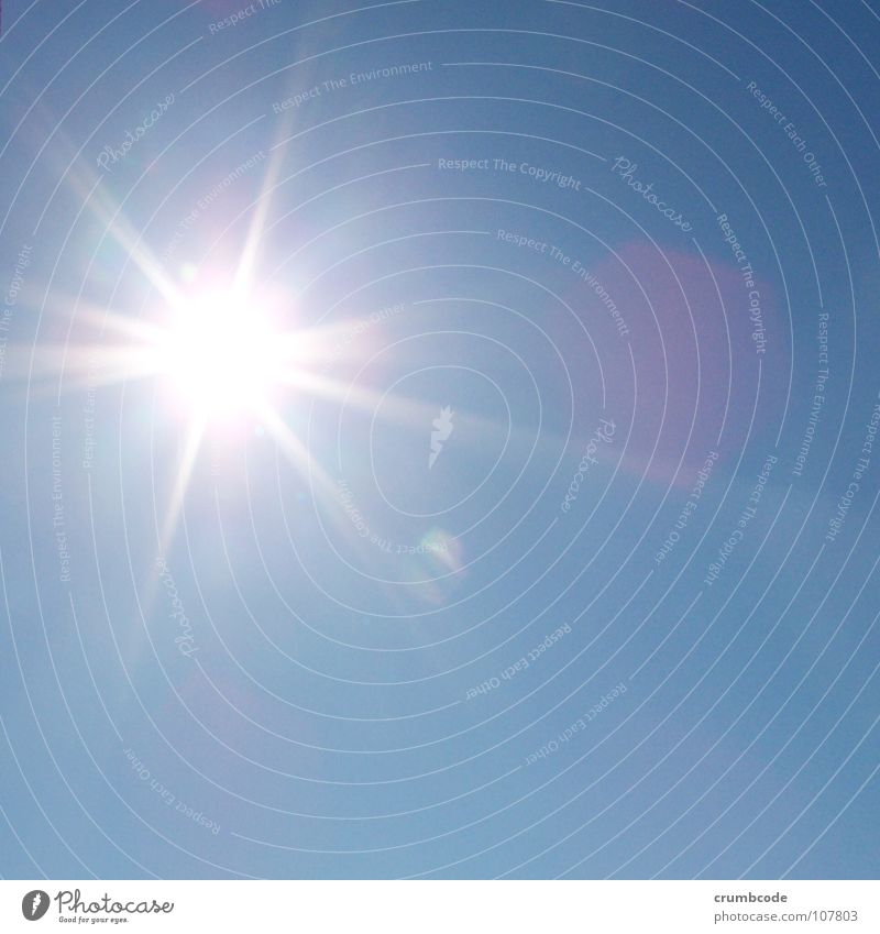 Sky Sun Blue Summer Lighting Sunbeam Beautiful weather Flashy