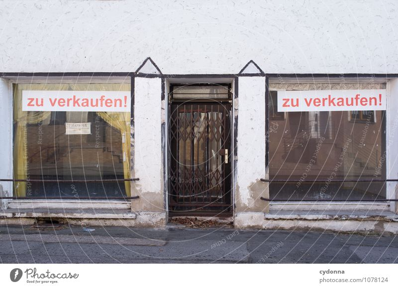 City Loneliness Window Architecture Style Germany Lifestyle Facade Gloomy Signs and labeling Closed Transience Change Moving (to change residence) Village
