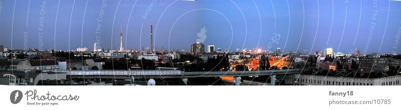 Blue Far-off places Berlin Above Large Twilight Panorama (Format) Alexanderplatz Potsdamer Platz