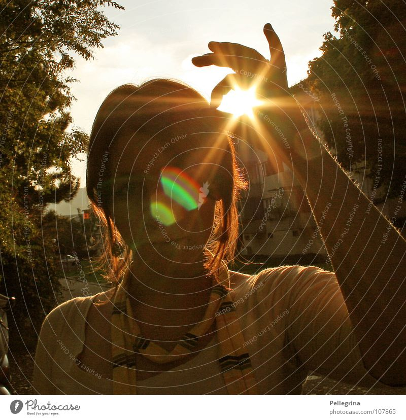 captured Summer Autumn Light Physics House (Residential Structure) Woman Radiation Yellow Lighting Expressway exit Block Captured Warmth Face irradiated scrawny
