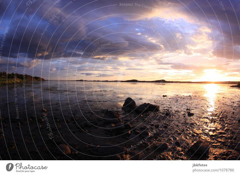 ICELAND / Borgarnes Environment Nature Landscape Plant Elements Earth Air Water Sky Horizon Sunrise Sunset Sunlight Climate Beautiful weather Waves Coast