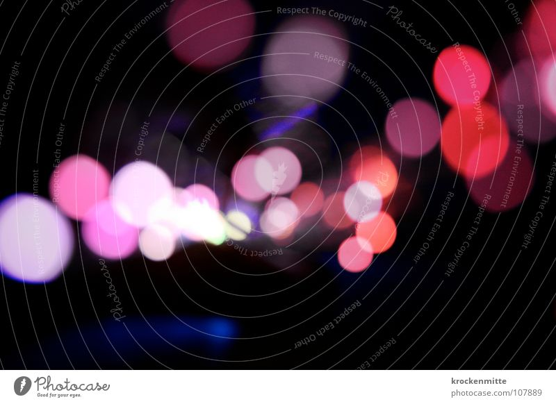 Red Colour Lamp Pink Circle Point Way out Night life Fairy lights Abstract