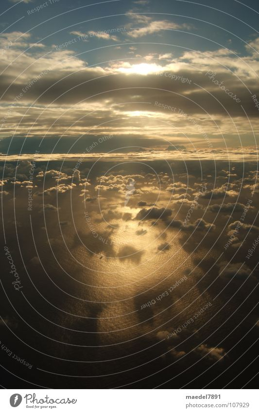 Beautiful Sky Ocean Blue Joy Clouds Dark Warmth Landscape Flying Grief Aviation Physics Australia Wanderlust Anticipation