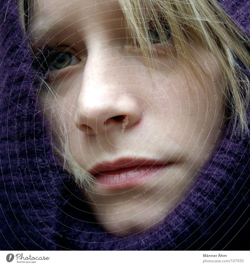 Woman Hand Winter Face Cold Warmth Hair and hairstyles Rain Ice Wait Clothing Protection Violet Physics Freeze Sweater