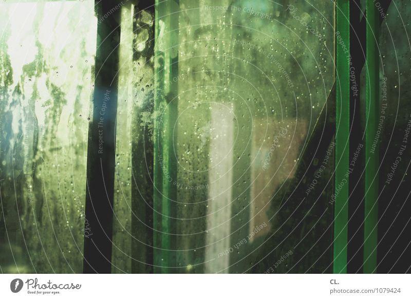 Green Window Exceptional Esthetic Drops of water Wet Creativity Window pane Inspiration Complex