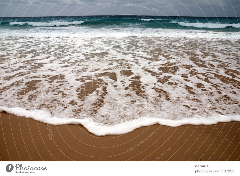 Ocean Beach Cold Sand Waves Turquoise Foam White crest Ibiza Formentera