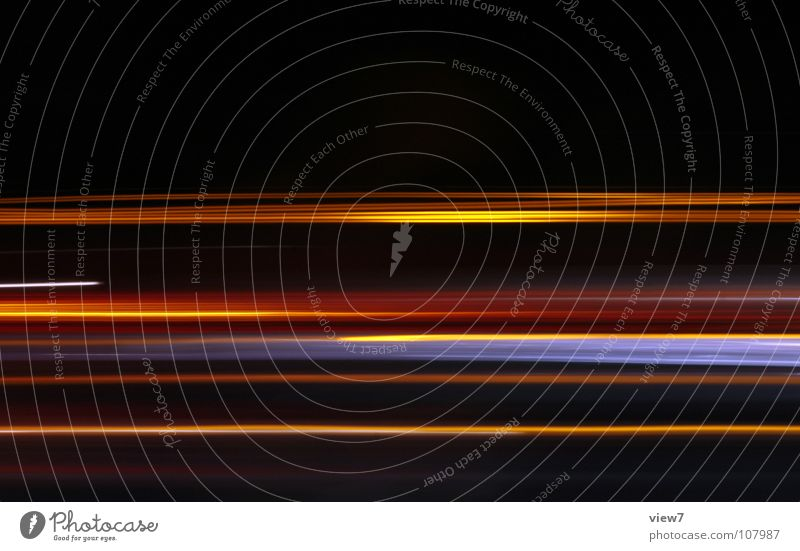 colors Light Radiation Disperse Night Dark Highway Long exposure Multicoloured Background picture Transport Electrical equipment Technology Reaction Railroad