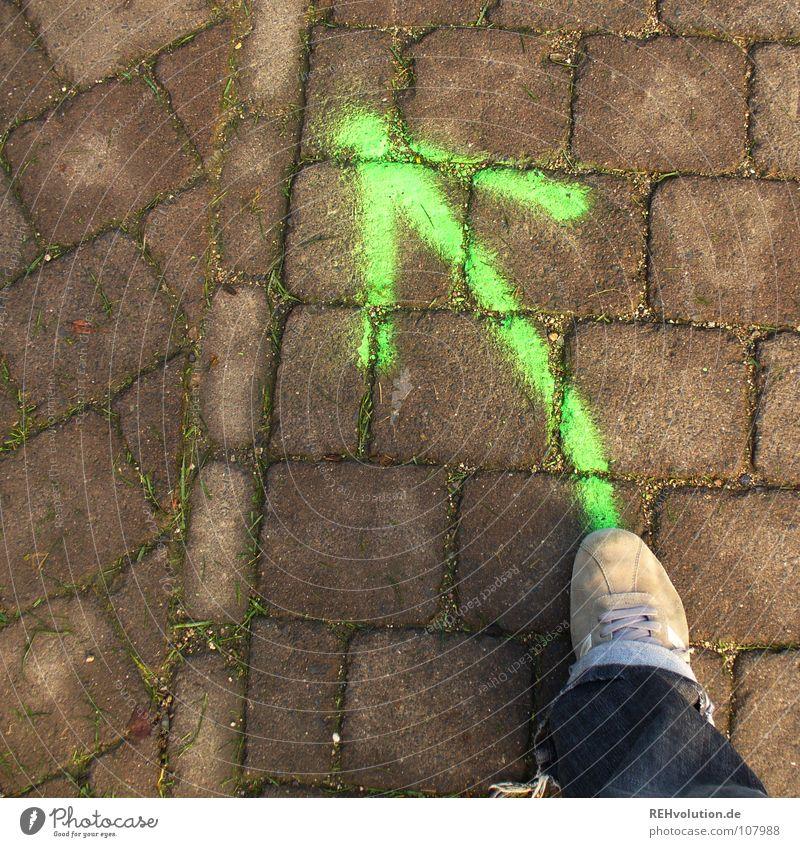 Green Street Garden Feet Lanes & trails Park Footwear Lighting Orange Going Signs and labeling Beginning Action Asphalt Forwards Pants