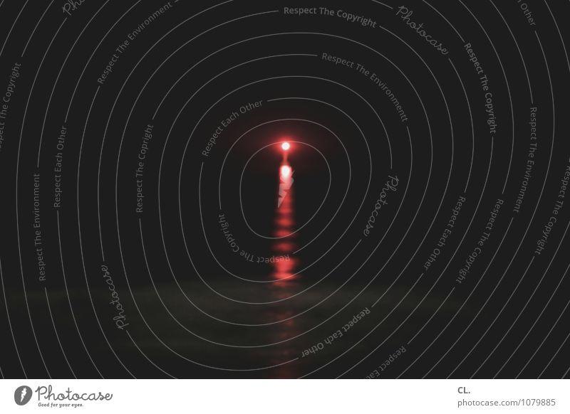 Nature Water Ocean Loneliness Red Calm Dark Black Environment Coast Waves Future Hope Infinity Target Longing