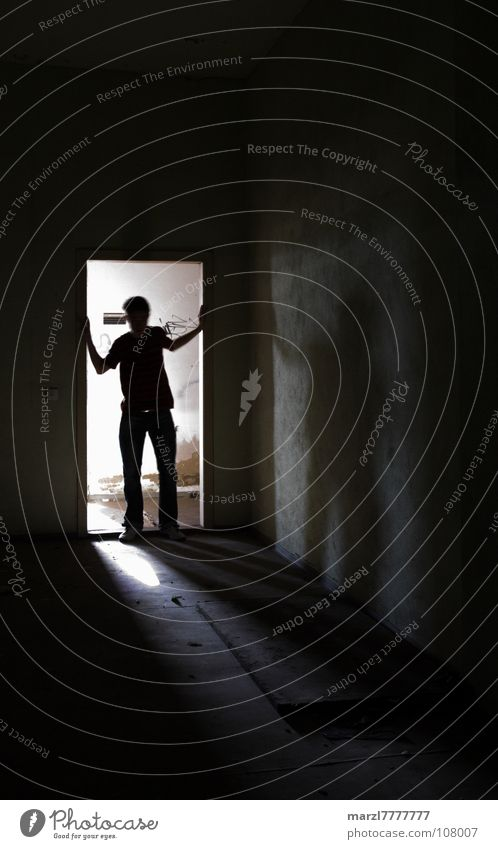 Black Loneliness Dark Fear Search Dangerous Threat Distress Panic Perplexed