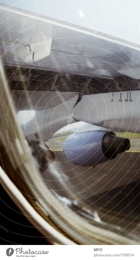 lift-off Lomography Engines Wing Window Runway Dream Aviation Lomo Horizon Beginning nozzle