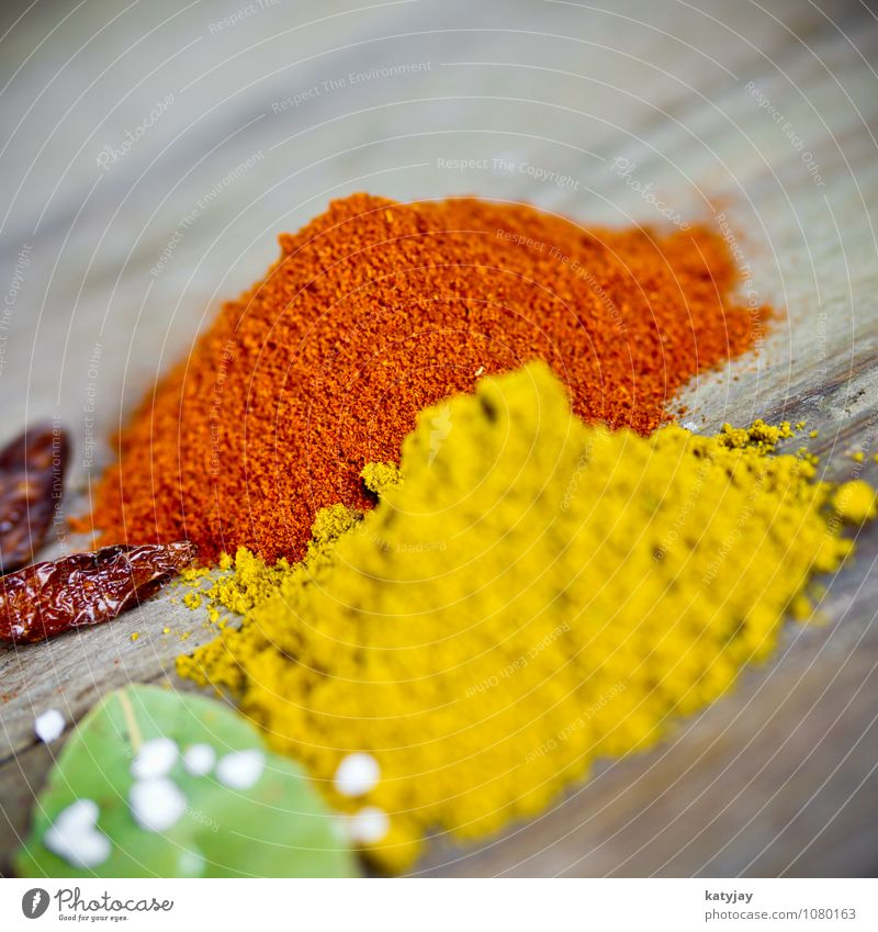 curry powder Herbs and spices Pepper Curry powder Peppercorn Sense of taste Spicy Healthy Eating Dish Food photograph Chili Salt Cooking salt sea salt Bay leaf
