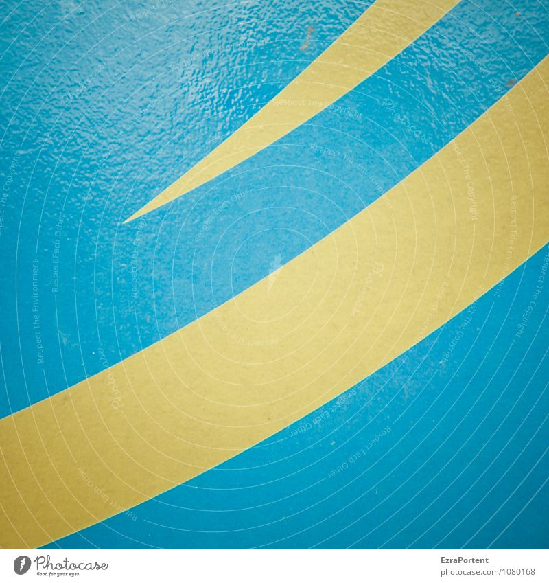 Set sail Metal Sign Line Stripe Illuminate Blue Yellow Design Colour Point Swing Illustration Graph Graphic Background picture Colour photo Subdued colour
