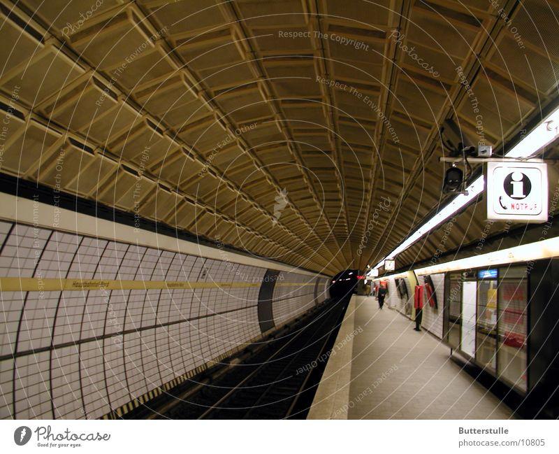 Architecture Hamburg Perspective Tunnel Underground Train station In transit