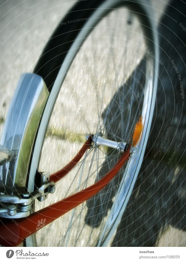Red Street Lanes & trails Speed Driving Leisure and hobbies Asphalt Bicycle Rotate Slowly Spokes Guard