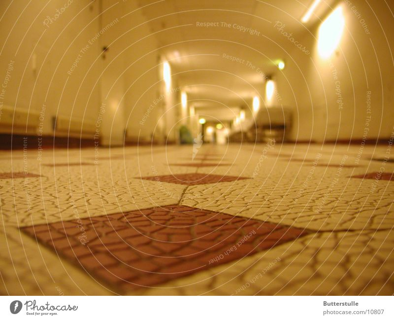 hallway view Hallway Vanishing point Hospital Architecture Perspective Tile Floor covering Central perspective Corridor