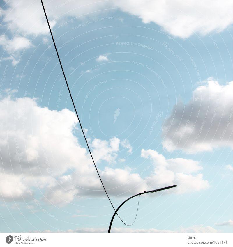 linen compulsion Energy industry Transmission lines Street lighting Sky Clouds Beautiful weather Hang Esthetic Elegant Arrangement Perspective Services