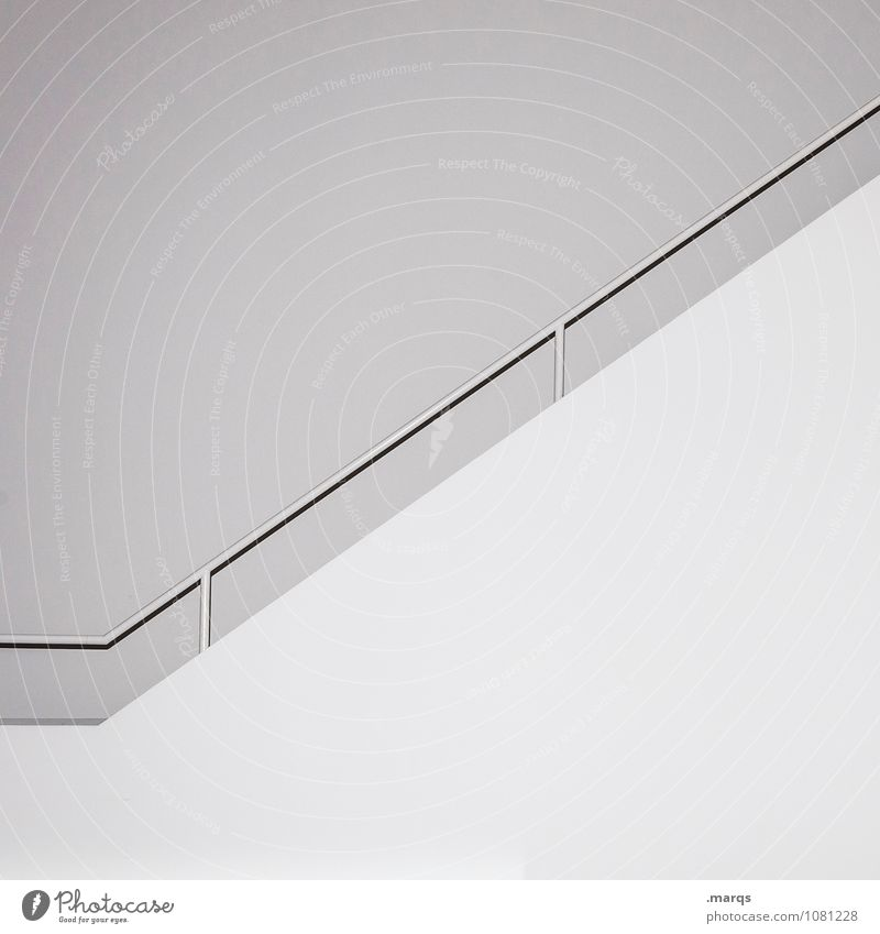 ascent Elegant Style Design Interior design Career Wall (barrier) Wall (building) Banister Line Esthetic Simple Bright Modern White Arrangement Pure Sterile