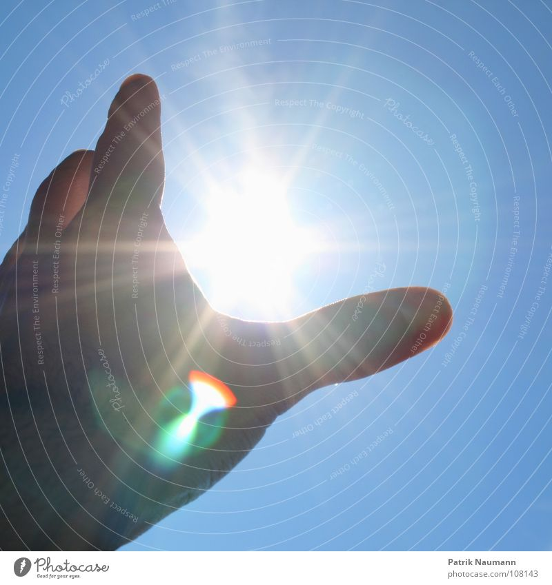 Hand Sky Sun Blue Summer Playing Stars Star (Symbol) Catch Against Tangible