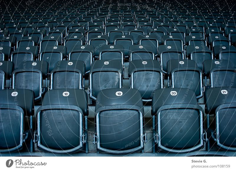 Born into the masses Stadium Gray Chair Dark Negative Leisure and hobbies Seating Metal Statue Far-off places