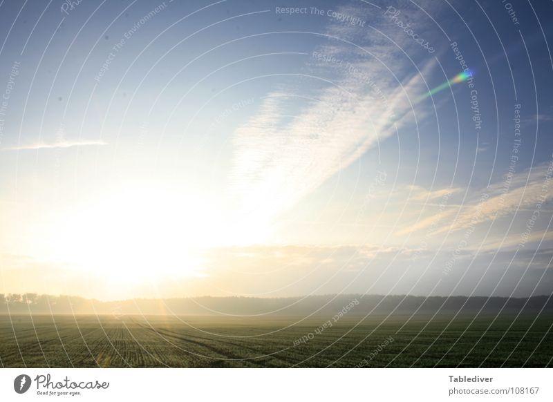 Sky Beautiful Sun Field Fog Horizon Sunrise Level Americas Flat Wake up Lower Saxony