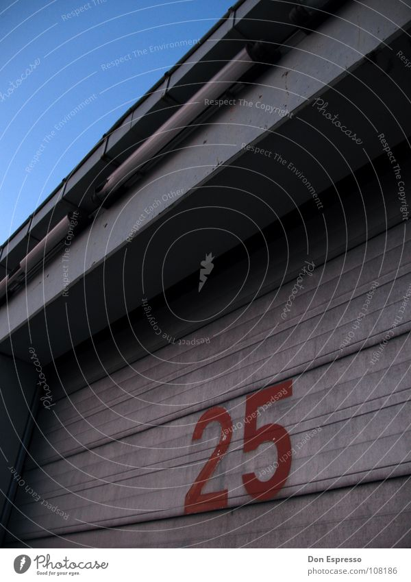 Sky Blue Line 2 Door Industry Industrial Photography Factory Characters Digits and numbers Gate 5 Warehouse Hall Garage Undo