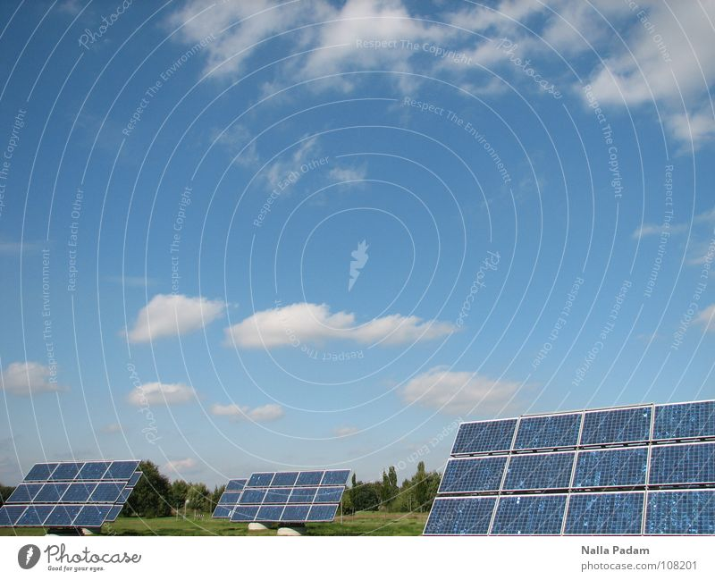 Future Music Today Solar Power Solar cell Clouds Energy industry Free Adlershof Electrical equipment Technology Sky Blue panel Advancement