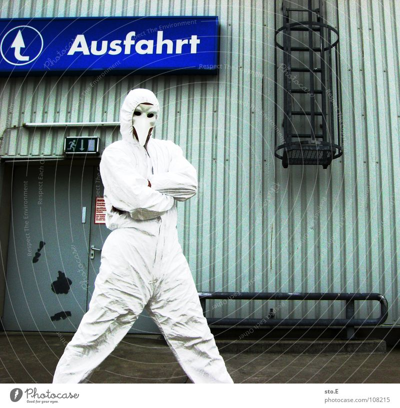 final posting pt.2 Fellow Action Suit White Safety Protective clothing Workwear Pentium Working shoes Steel toe cap Mask Face mask Respirator mask Parking lot