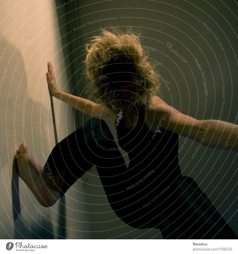 Woman Human being Black Dark Dream Fear Blonde Adults Climbing Pain Boredom Upward Panic Anonymous Mountaineering Barefoot