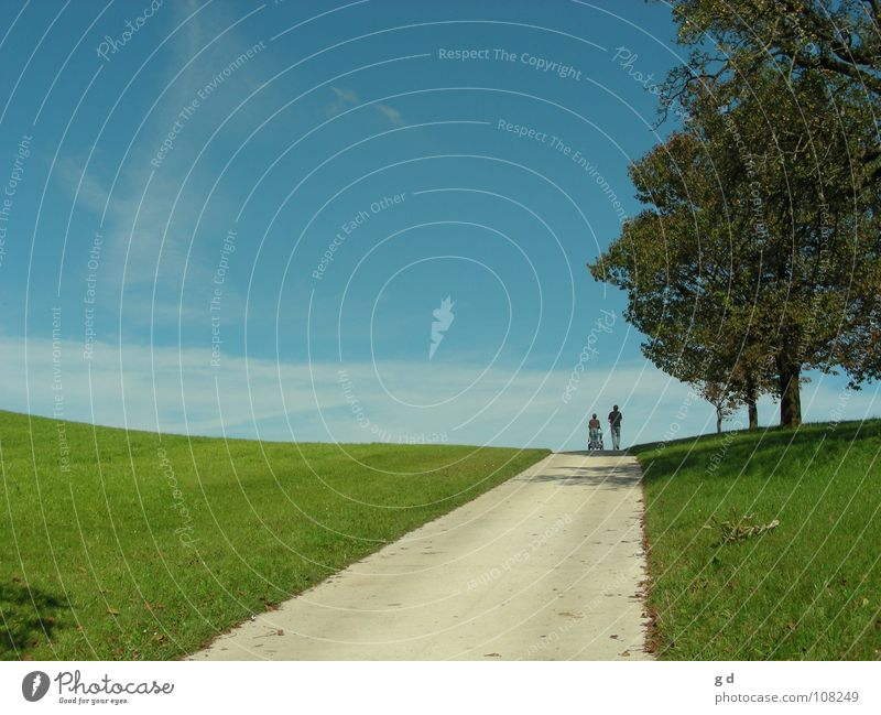 Human being Sky Tree Green Blue Meadow Lanes & trails Infinity In transit