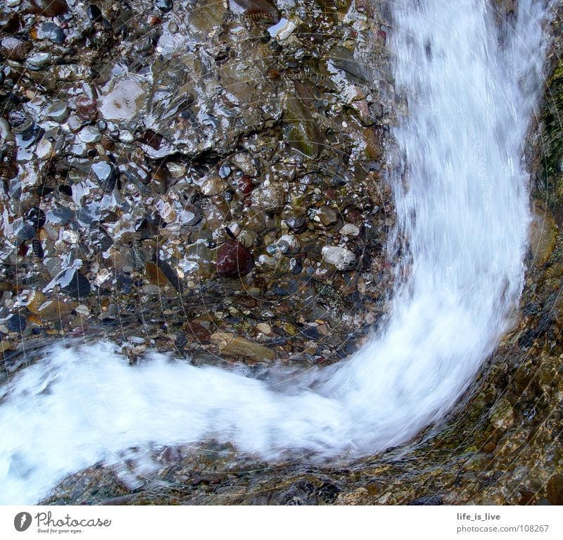 Water Life Stone Power Wet Force Soft Touch River Delicate Brook Smooth Thirst Flow High tide Precious