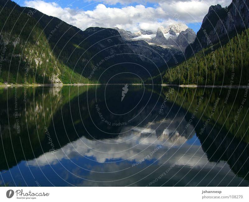 Water Calm Clouds Mountain Lake Federal State of Upper Austria Dachstein mountains Gosau