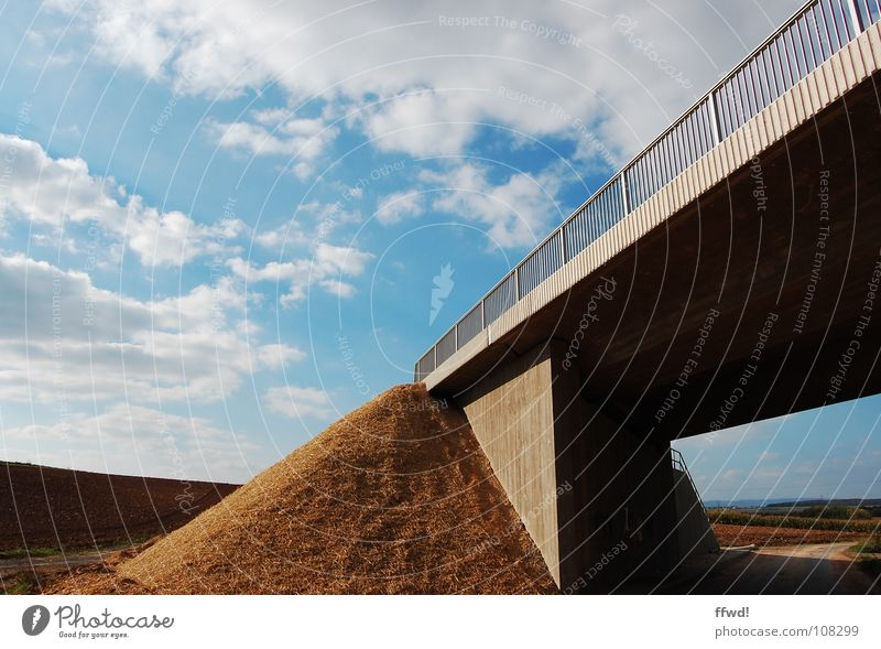 Nature Sky Clouds Field Bridge End Obscure Footpath Diagonal