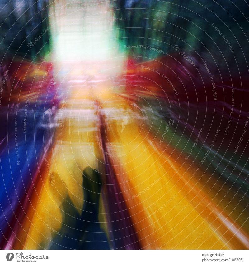 w u s c h ... Slide Movement Motion blur Blur Long exposure Speed Playground Playing Stockings Multicoloured Yellow Dark washed Feet Interior shot