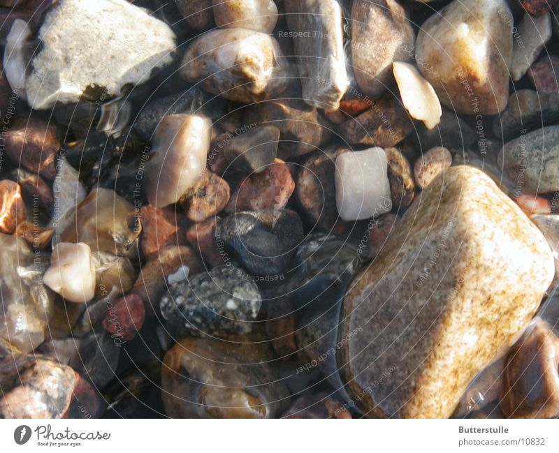 Stones in water Elbstrand Gravel Water