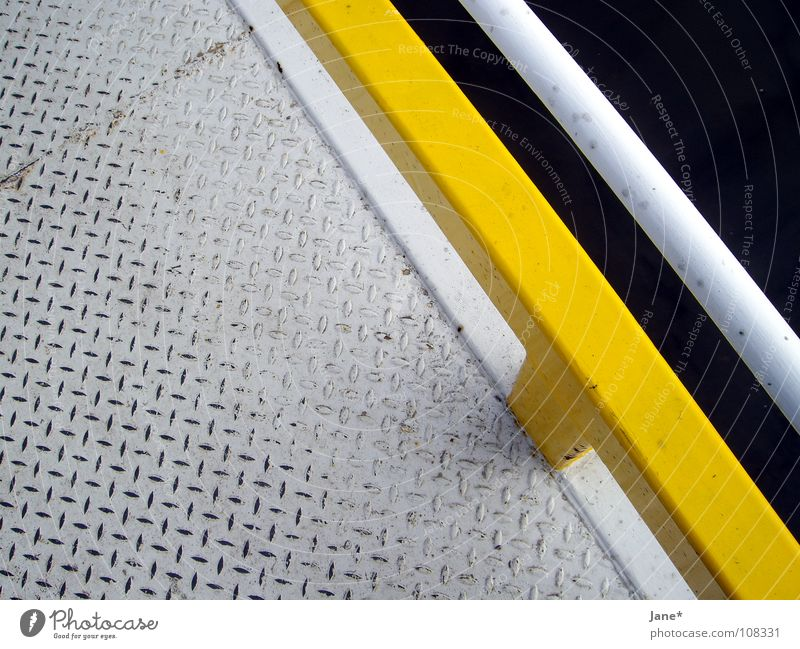 \\ lines \\ White Gray Yellow Black Diagonal Dresden Footbridge Minimal Simple Graphic Beautiful Detail Bridge grey Metal teardrop Elbe Water Jane