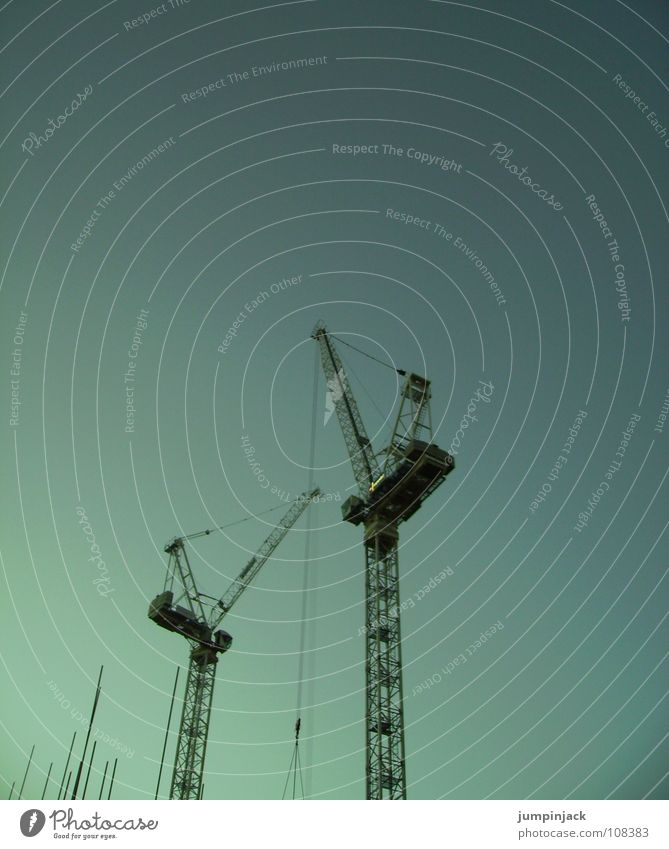 Sky Cold Horizon Work and employment Power Industry Might Construction site Level Logistics Clarity Deep Crane