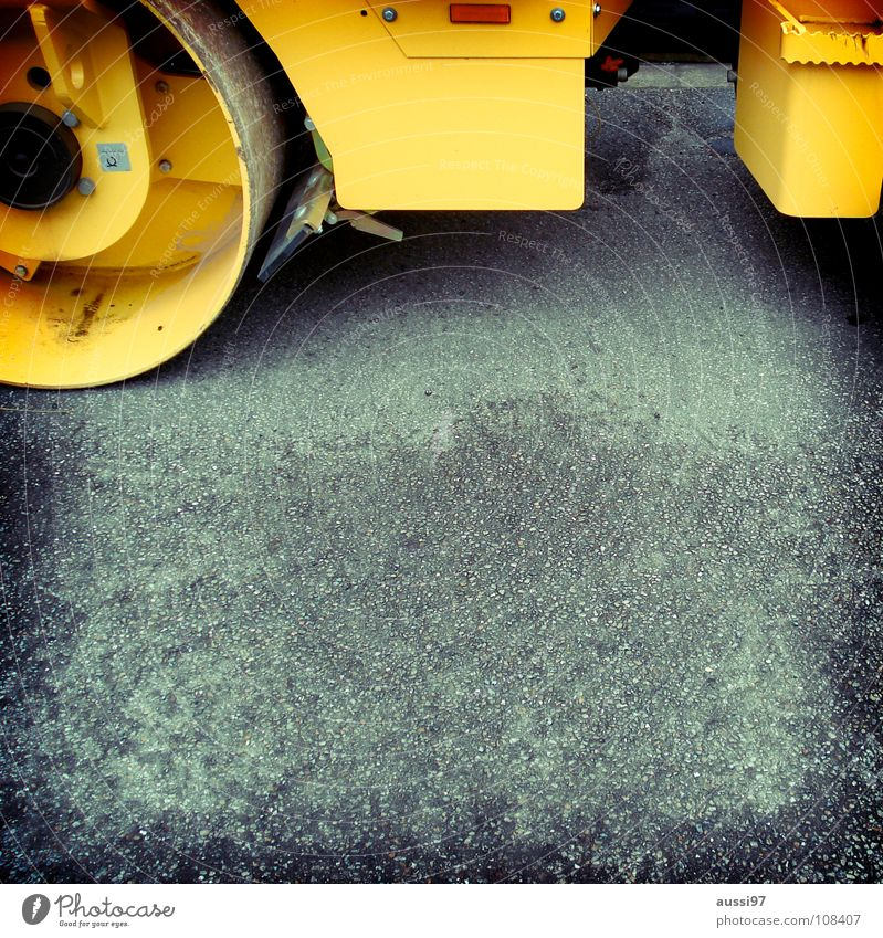 Yellow Street Work and employment Concrete Industry Construction site Asphalt Construction worker Graphic Working man Redevelop Roll Tidy up House building Road construction Industrial zone