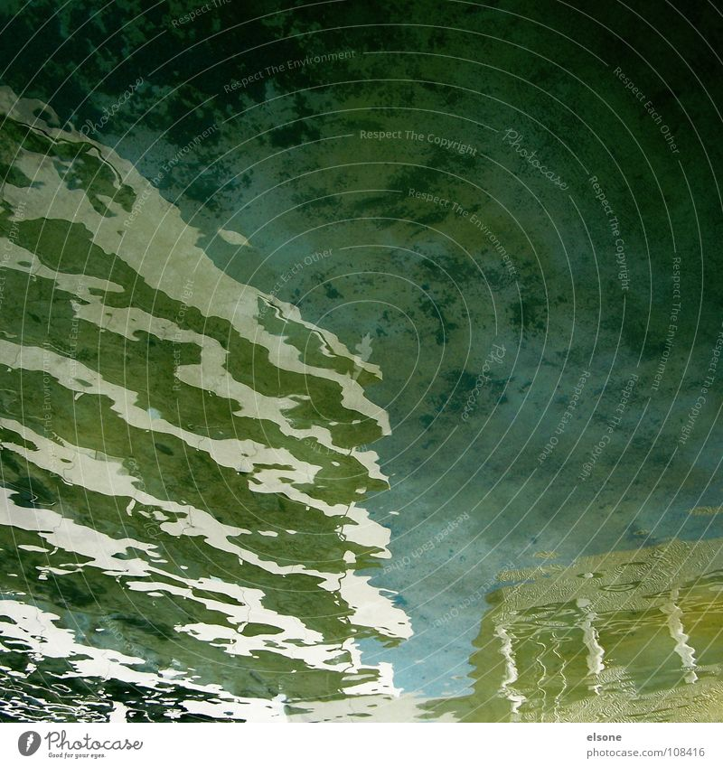 ::FAIRY-TALE:: Puddle Well Wet Lake Pond Town Water Rainbow Algae Fantastic Mirror Surface 2 Reflection Deformation Deferred Curved Abstract False Green Black