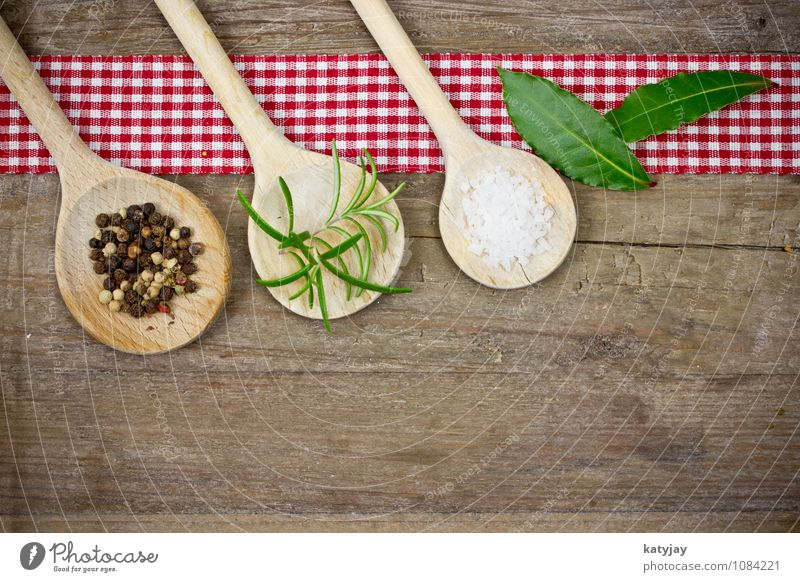spices Herbs and spices Pepper Wooden spoon Peppercorn Rosemary sea salt Star aniseed Ingredients Table Wooden table Near Close-up Spoon Rustic Aromatic