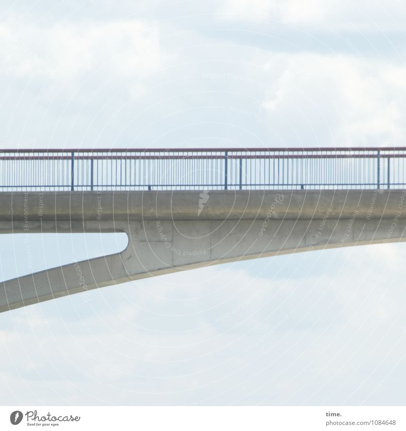 sky line Sky Clouds Dresden Bridge Manmade structures Architecture Bridge railing Traffic infrastructure Lanes & trails Concrete Metal Line Esthetic Elegant