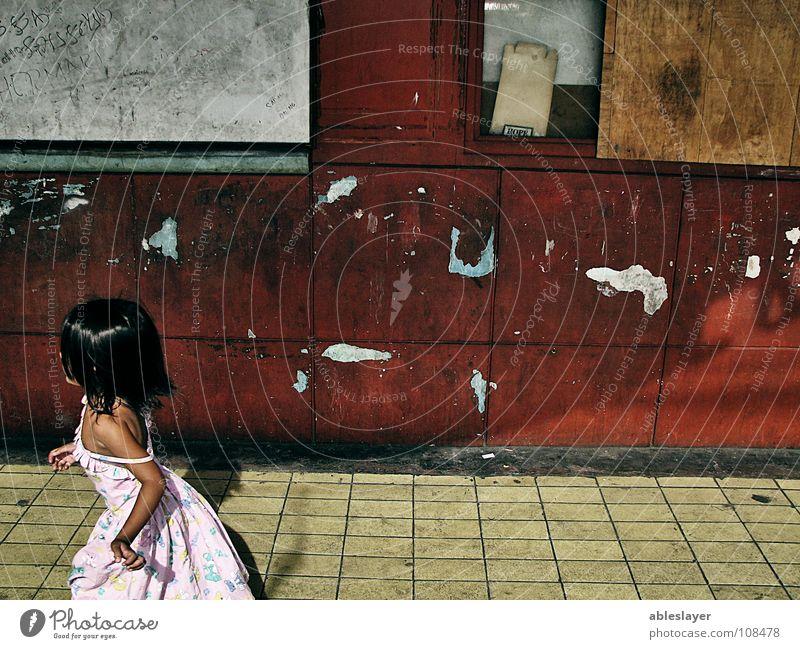 run Child Girl Small Community service Fear Panic little street photojournalism Walking