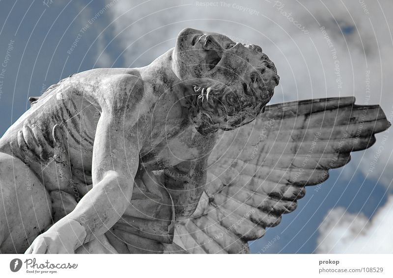 Human being Sky Man Sadness Death Religion and faith Flying Masculine Fear Body Wing Transience Regensburg Grief To hold on Angel